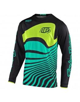 TLD MX Μπλούζα GP Air Drift Black/Turquoise