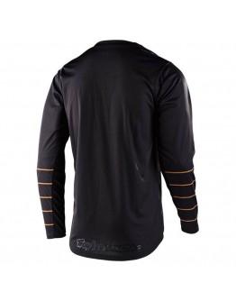 TLD MX Μπλούζα GP Pinstripe Black/Gold