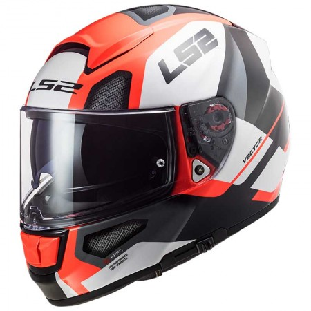 LS2 FF397 Vector HPFC Evo Automat White/Fluo Orange