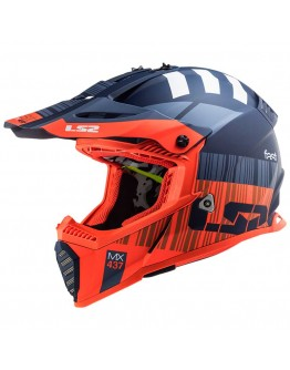 LS2 MX437 Evo XCode Matt Fluo Orange/Blue