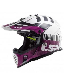 LS2 MX437 Evo XCode White/Violet