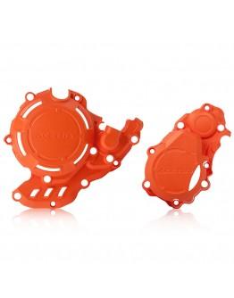 Acerbis Προστατευτικό Κάλυμμα Κινητήρα X-Power KTM KTM EXC-F 250/350/Husqvarna FE 250/350 Orange