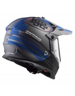 LS2 MX436 Pioneer Quarterback Matt Titanium/Blue