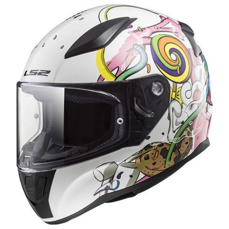LS2 FF353J Rapid Mini Crazy Pop White Pink