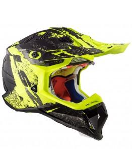 LS2 MX470 Subverter Claw Matt Black/H-V Yellow