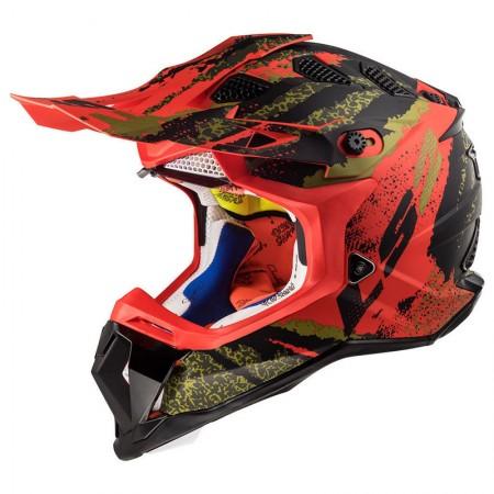 LS2 MX470 Subverter Claw Matt Black/Red