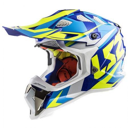 LS2 MX470 Subverter Nimble White/Blue/H-V Yellow