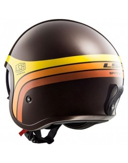 LS2 OF599 Spitfire Sunrise Brown/Orange/Yellow