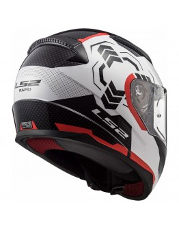 LS2 FF353 Rapid Ghost White/Black/Red