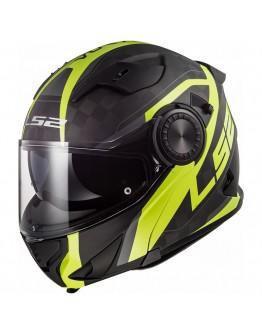 LS2 FF313 Vortex Matt Carbon Gloss H-V Yellow