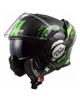 LS2 FF399 Valiant Nucleus Black/Glow Green