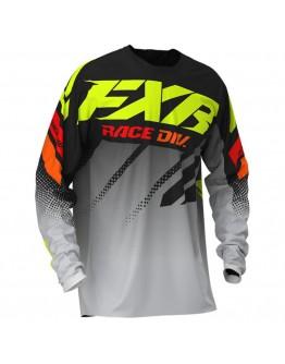 FXR MX Μπλούζα Clutch 20 Black/Grey Fade/Hi Vis/Red