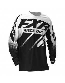 FXR MX Μπλούζα Clutch 20 Black/White