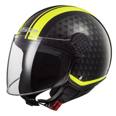 LS2 OF558 Sphere Lux Crush Black/Yellow/Fluo
