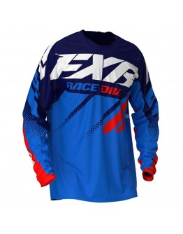 FXR MX Μπλούζα Clutch 20 Blue/Navy/Red