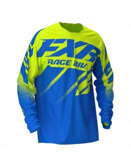 FXR MX Μπλούζα Clutch 20 Blue/Hi Vis