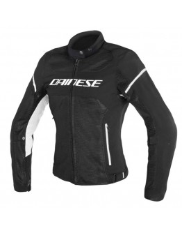 Dainese Air Frame D1 Lady Tex Jacket Black/Black/White