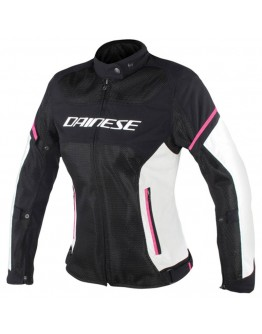 Dainese Air Frame D1 Lady Tex Jacket Black/Vaporous-Gray/Fuxia