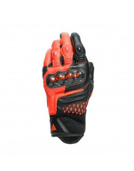 Dainese Carbon 3 Short Γάντια Black/Fluo-Red