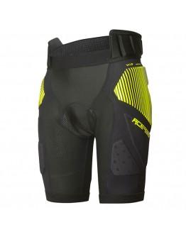 Acerbis Shorts Soft Rush Black/Yellow Προστατευτικό Σορτς