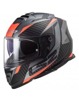 LS2 FF800 Storm Racer Matt Titanium Fluo Orange