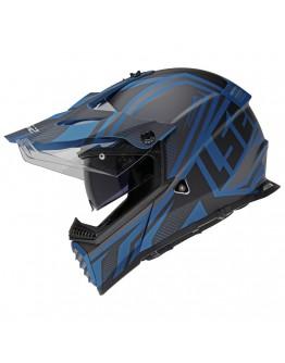 LS2 MX436 Pioneer Evo Master Matt Black/Blue