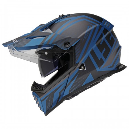LS2 MX436 Pioneer Evo Master Matt Black/Blue