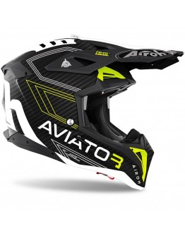 Airoh Aviator 3 Primal Carbon Yellow Matt