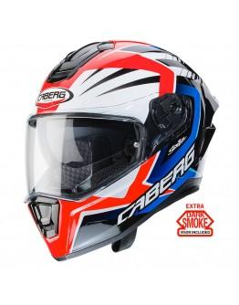 Caberg Drift Evo MR55 White/Red/Blue + Dark Smoke Ζελατίνα