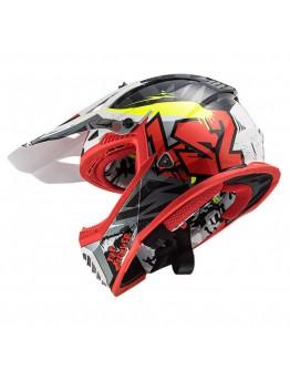 LS2 MX437 Evo Crusher Black/Red