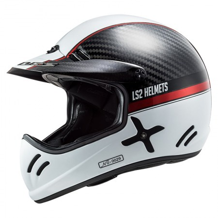 LS2 MX471 XTRA Yard Carbon/White/Red