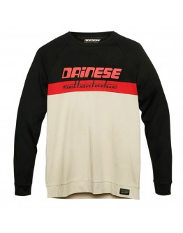 Dainese Dune L/S T-Shirt Tap-Shoe/Pompeian-Red/Feather-Gray