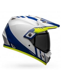 Bell MX-9 Adventure Mips Dash White/Blue/Hi-Viz