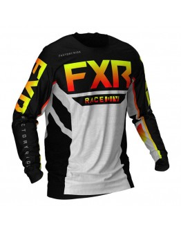 FXR MX Μπλούζα Podium 21 Black/Red/Hi-Vis/Grey Aztec