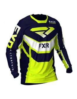 FXR MX Μπλούζα Podium 21 Navy/Hi-Vis/White