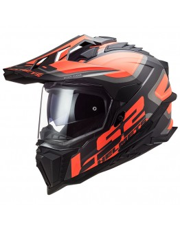 LS2 MX701 HPFC Explorer Alter Matt Black/Fluo Orange