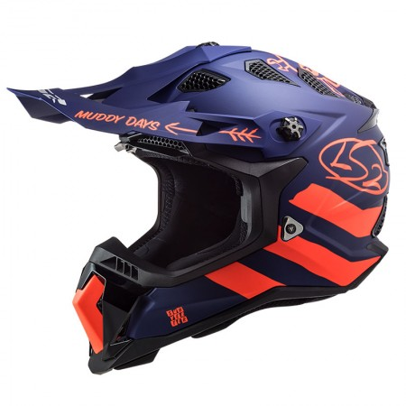 LS2 MX700 Subverter Evo Cargo Matt Blue/Fluo Orange
