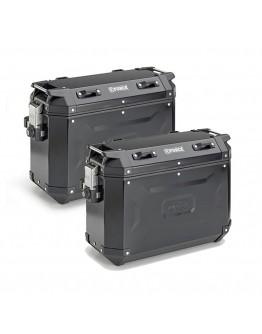 Kappa Βαλίτσες Πλαϊνές Ζεύγος K-Force 2 Pack Black KFR37B 37lt