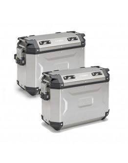 Kappa Βαλίτσες Πλαϊνές Ζεύγος K-Force 2 Pack Aluminium KFR37A 37lt