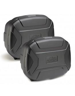 Kappa Πλαϊνές Βαλίτσες Ζεύγος K-Vector Black Monokey KVC35PACK2N 35lt
