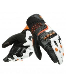 Dainese Carbon 3 Short Γάντια Black/White/Flame Orange