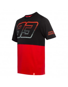 Marc Marquez Contrast Yoke 93 T-Shirt Black/Red