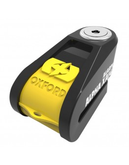 Oxford Κλειδαριά Δίσκου Alpha XA14 Alarm Yellow/Black