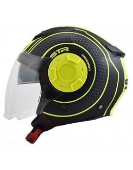 STR Tron Black Matt-Yellow