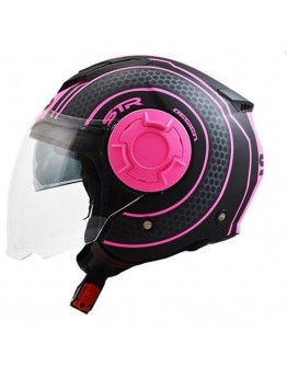 STR Tron Black Matt-Pink