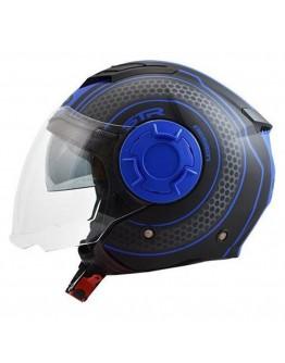 STR Tron Black Matt-Blue