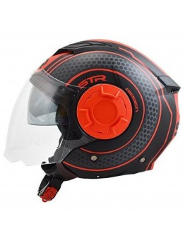 STR Tron Black Matt-Red