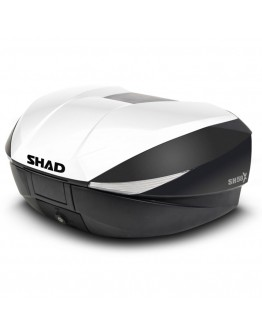 Shad Βαλίτσα SH58X 58lt Carbon με Extra White Καπάκι