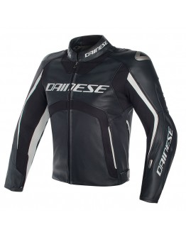 f811480c3e Dainese Misano D-Air Jacket Leather Black White ...