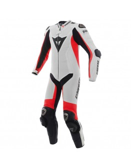 Dainese Misano D-Air Perforated Suit White/Fluo-Red/Black
